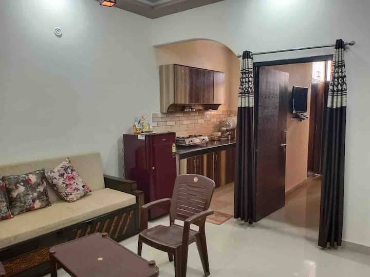 NEW 1BHK Furnished Apt near Ganges with Hill View