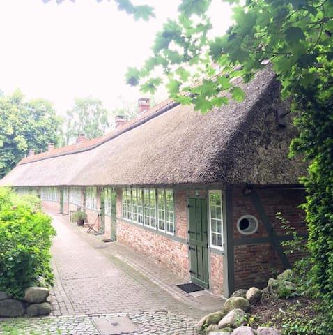 Gemütliches Reetdachhaus am Jenischpark nähe Elbe - Hamburg - Hus