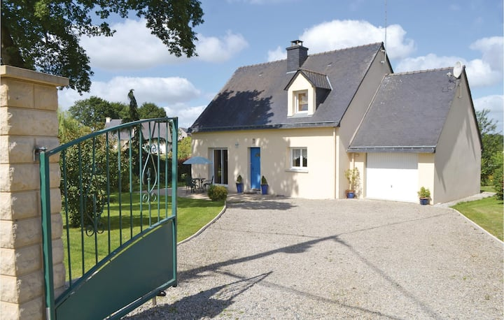 Awesome home in Guehenno with WiFi and 3 Bedrooms