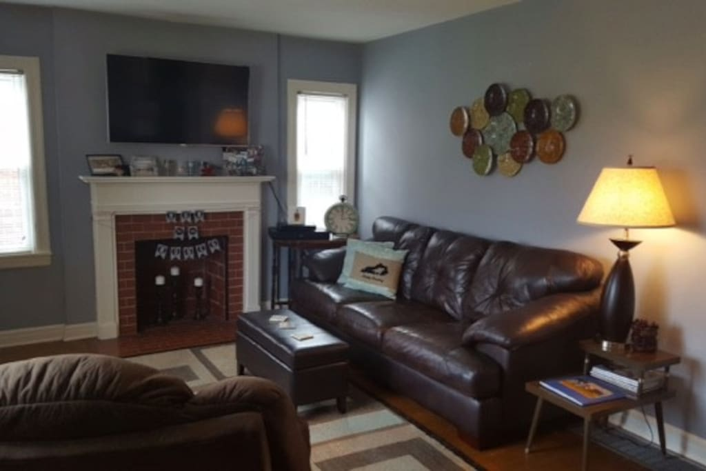 Living room-couch, recliner, small chair with ottoman