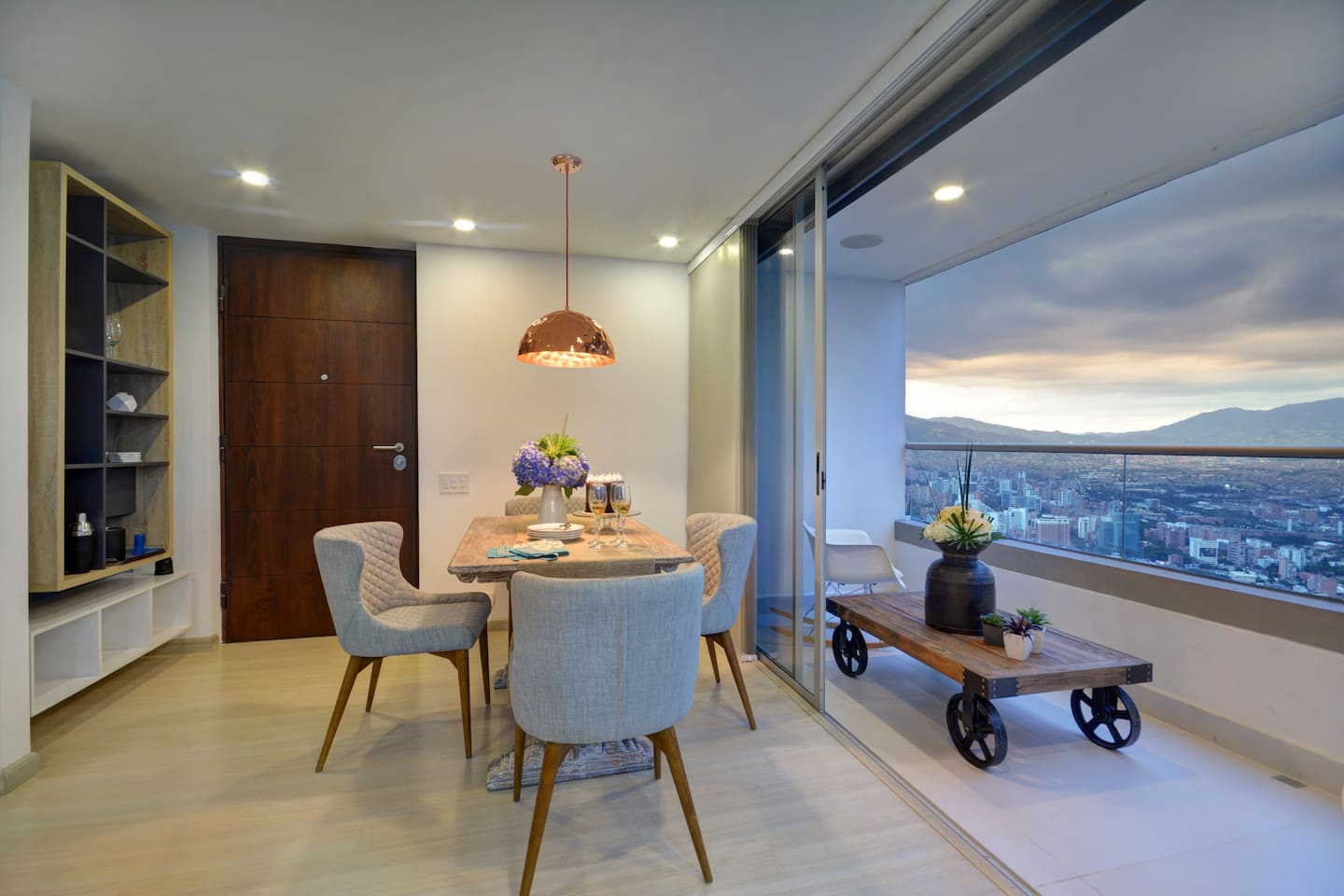 Dining room and balcony