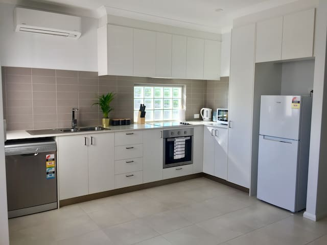 Fully equipped gourmet kitchen with new appliances