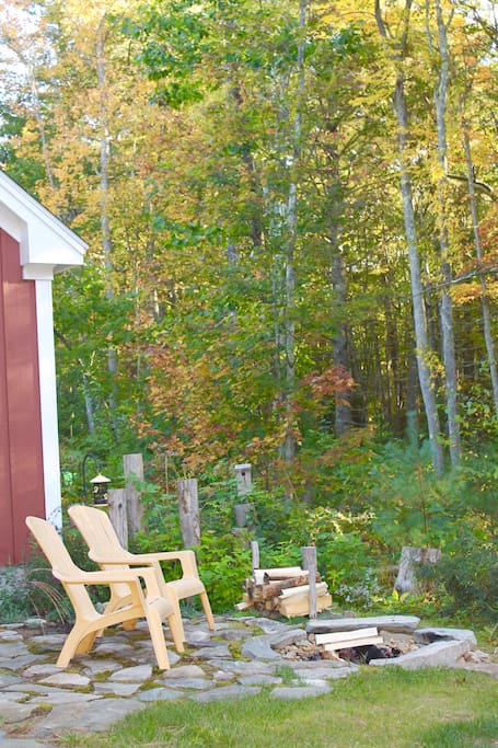October is beautiful in southern Maine.  The leaves are changing color and the air is getting crisp making it perfect for sitting by a campfire.