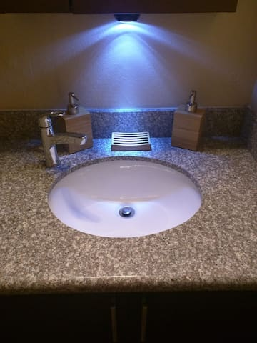 Additional bathroom night lighting provided for your convience if needed.
