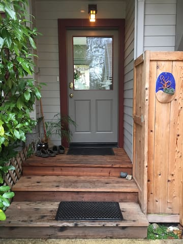 Shared entrance (at side of house)