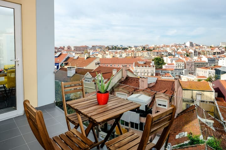 City Center Apartment + Balcony + Amazing Views - Lisboa - Квартира