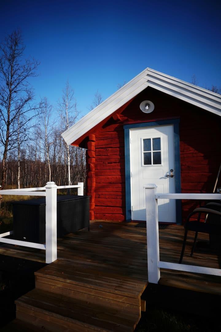 Amandas stuga i Nikkaluokta nära Kebnekaise