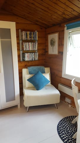Single Bedroom/ Dressing Room with Chair Bed, Wardrobe & Dressing Table