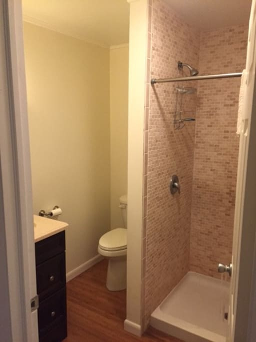 New, clean, private bathroom