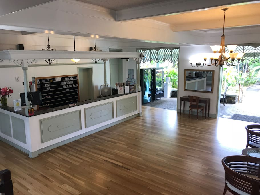 Kona Islander Inn Reception Desk