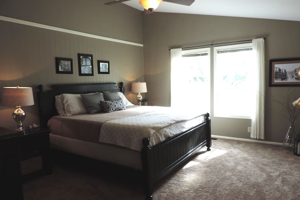 Welcoming master bedroom