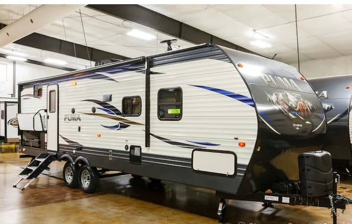 Super Bowl LUXURY RV rental. Next to the STADIUM