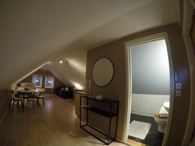 Cosy loft with view of the Sunnmøre Alps