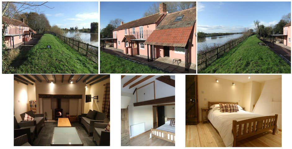 Pershbrook 4 bedroom Cottage on River Severn.