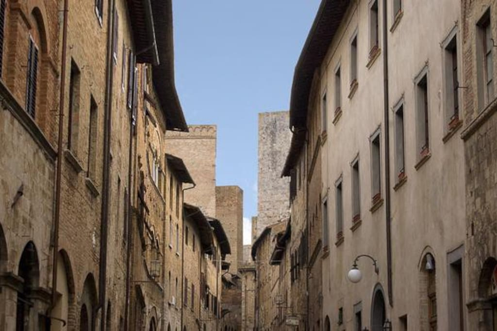 Historical Palace Buonaccorsi is in the main street san matteo, very good location, near towers, museum, cathedral.