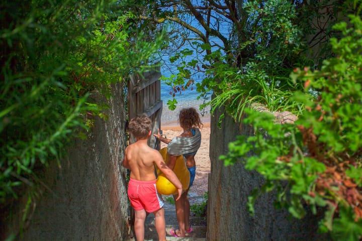 Porticcio Villa swimming pool,beach private access