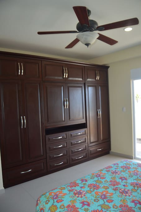 Custom closet with lots of space