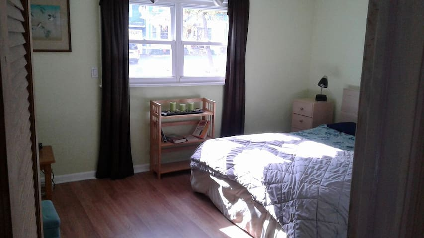 Sunny room, excellent location, great price.