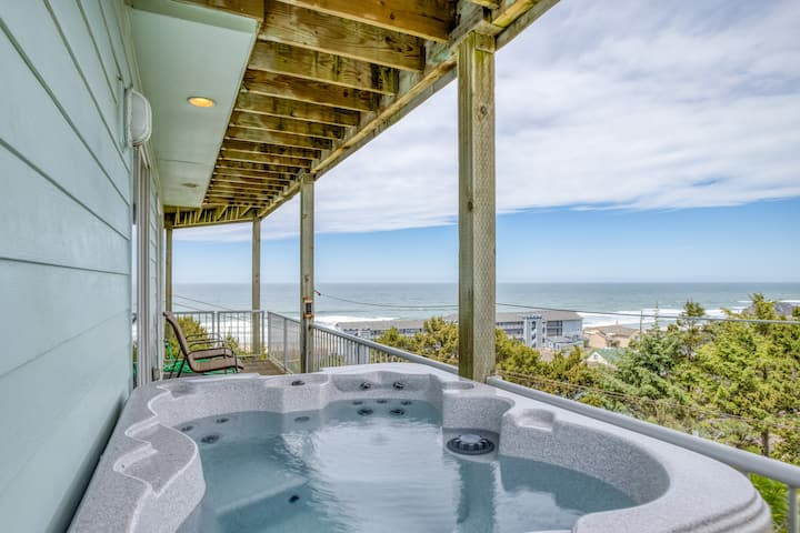 Enjoy Miles of Ocean Views from the Hot Tub
