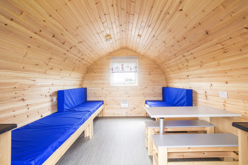 Glamping Cabin sleep up to 5 with inside and outside dining options