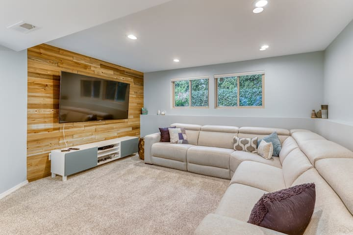 Premium Cleaned | Modern, dog-friendly getaway w/ an updated interior & finished basement
