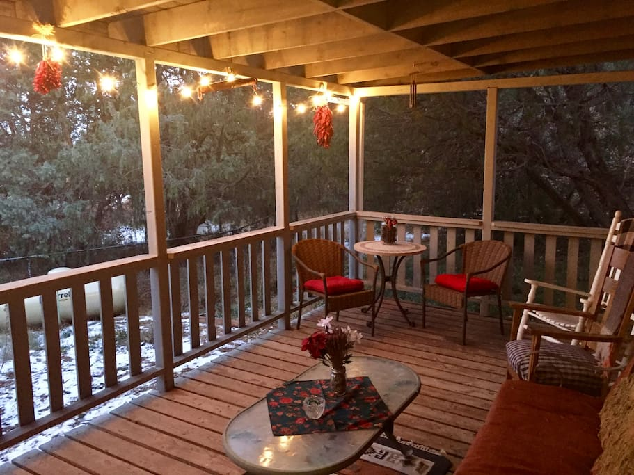 Your private porch at Christmas time