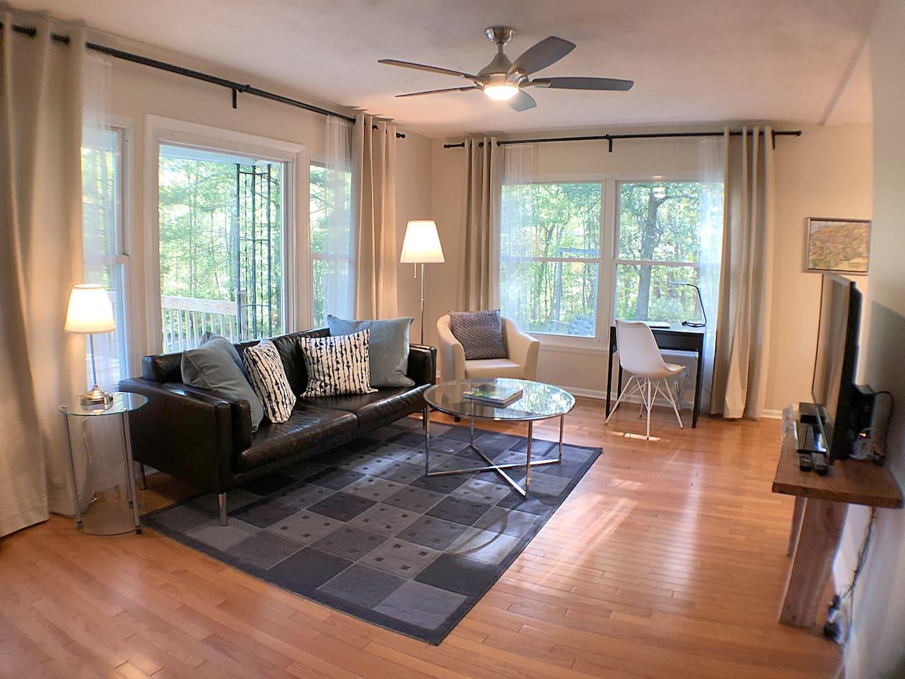 Bright, open living area