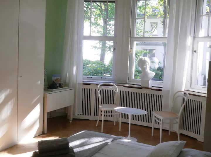 Lichtdurchflutetes Zimmer in Lindenthaler Villa