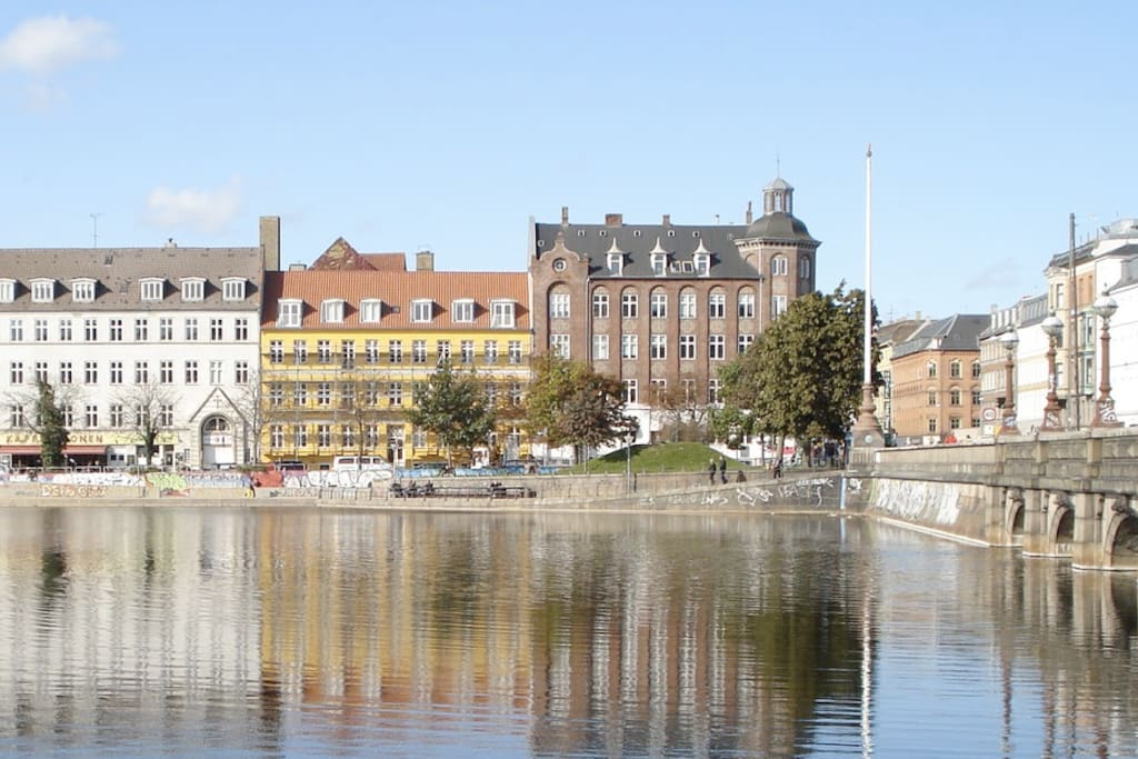 The lakes in center of Copenhagen
