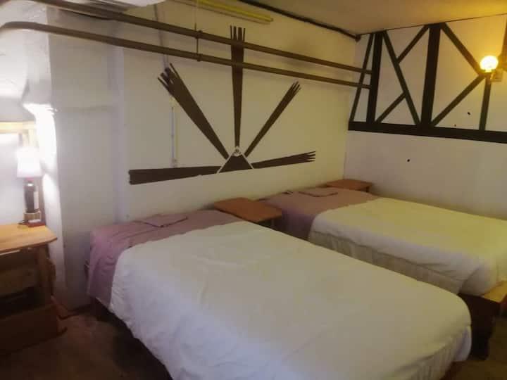 (5)preciosa habitación con dos camas. Céntrica