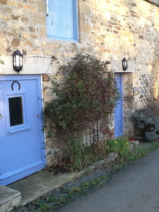 Our gite, private entrance.