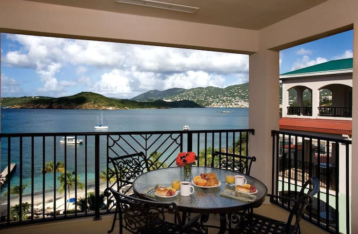 Balcony View of St. Thomas Harbor and Hassel Island