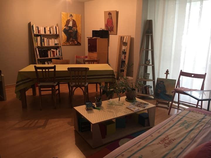 Appartement T4 90 m² La Rochelle, 2 lits