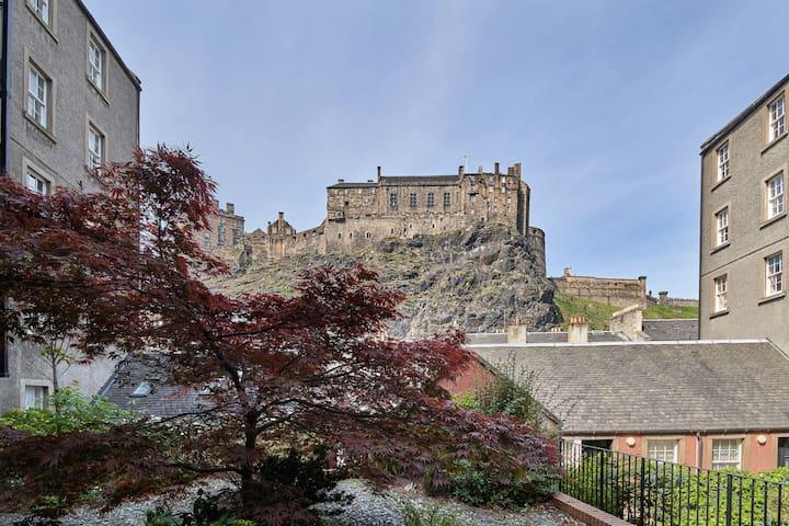 View of Edinburgh Castle when you enter the courtyard