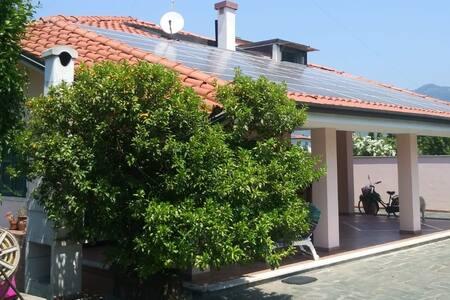 Appartamento centrico in villa con giardino