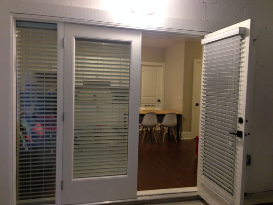 french door separate entrance