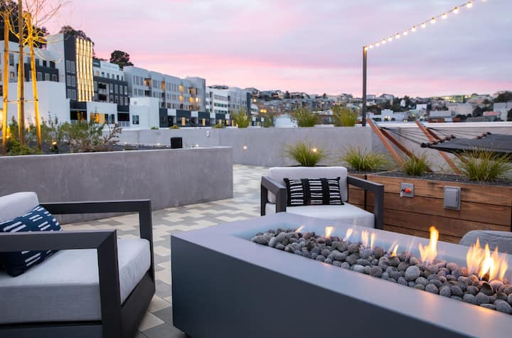 1 BR Suite + Private Rooftop + Gym l Dogpatch