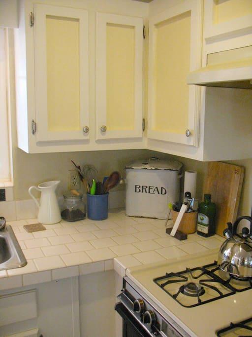 Detail of kitchen.