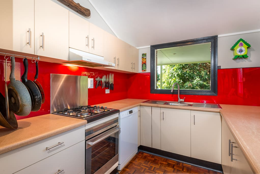 Shared Kitchen with pass to Balcony.