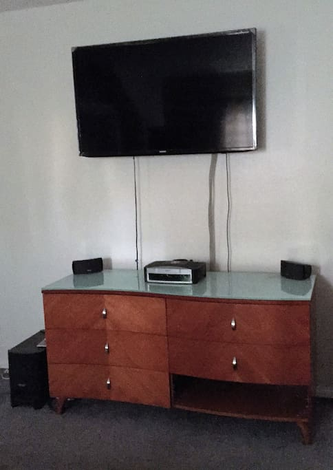 "50"" TV  with cable in your Private room"