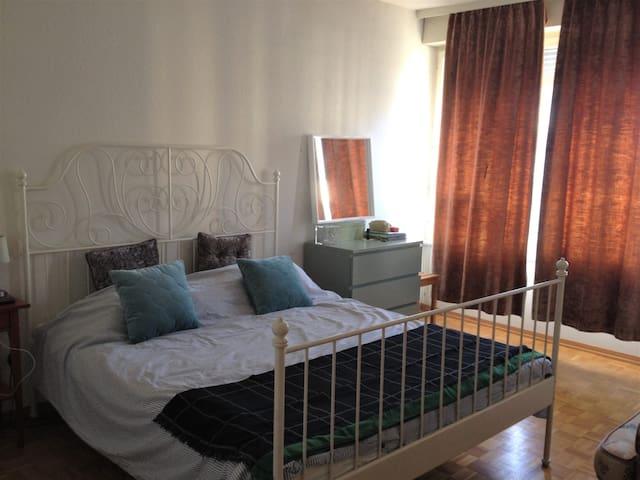 Big bright bedroom