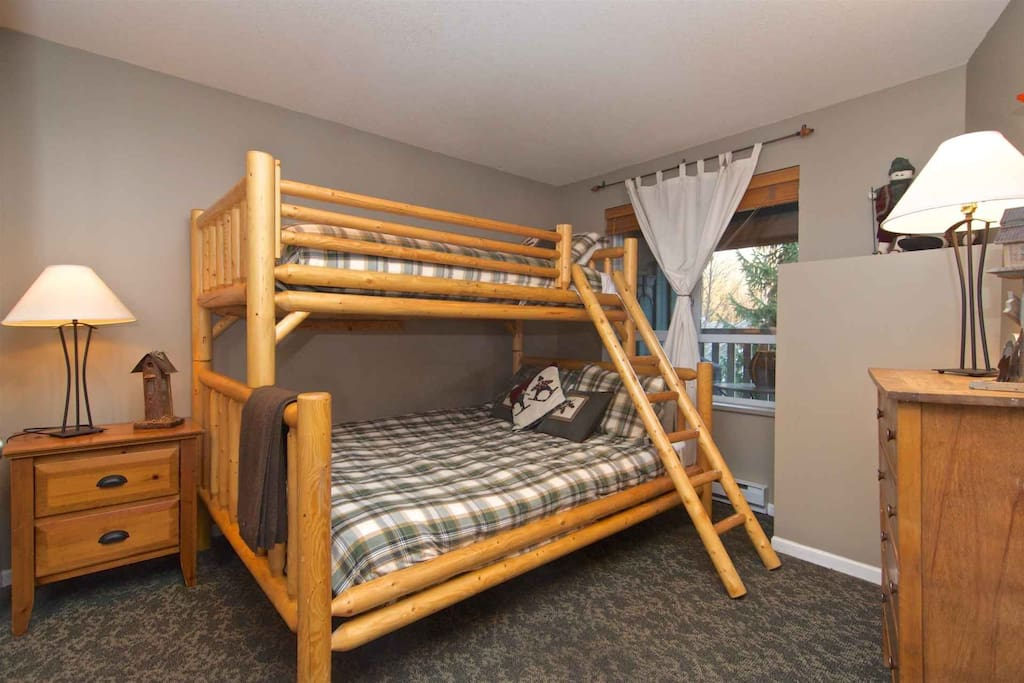 2nd Bedroom with comfortable bunk beds and clothes storage