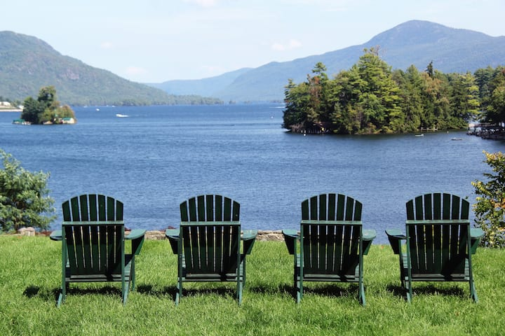 Lake George Resort with Spectacular View/Patio