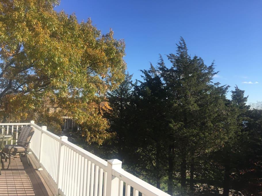 2nd floor outdoor deck