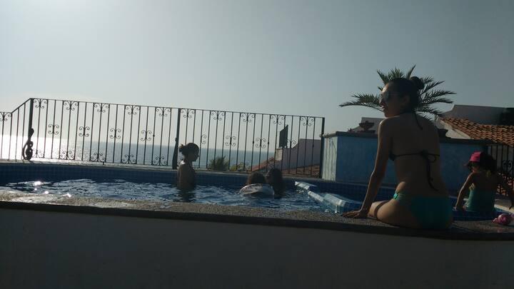Estudio malecón-zona romántica con piscina