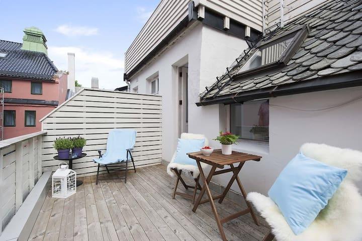 Historical Øvregaten in the heart of Bergen
