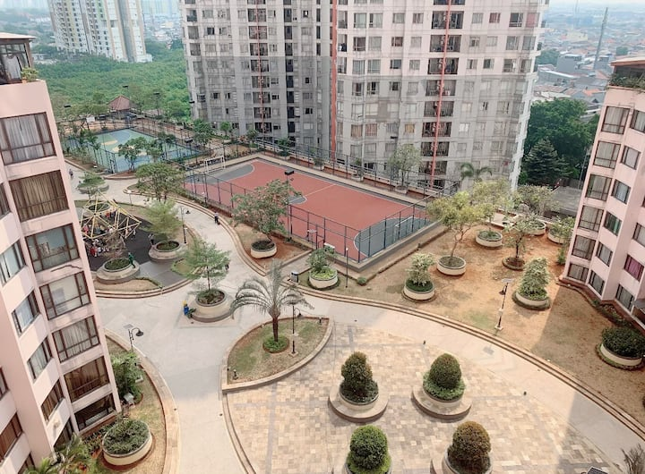 2BR with cozy place in Taman Rasuna apartment.
