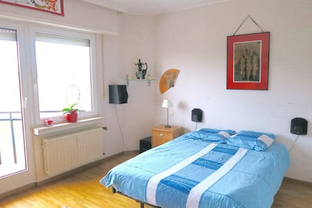 Big, bright, quiet room with balcony in KIRCHBERG - Luxembourg - Apartment