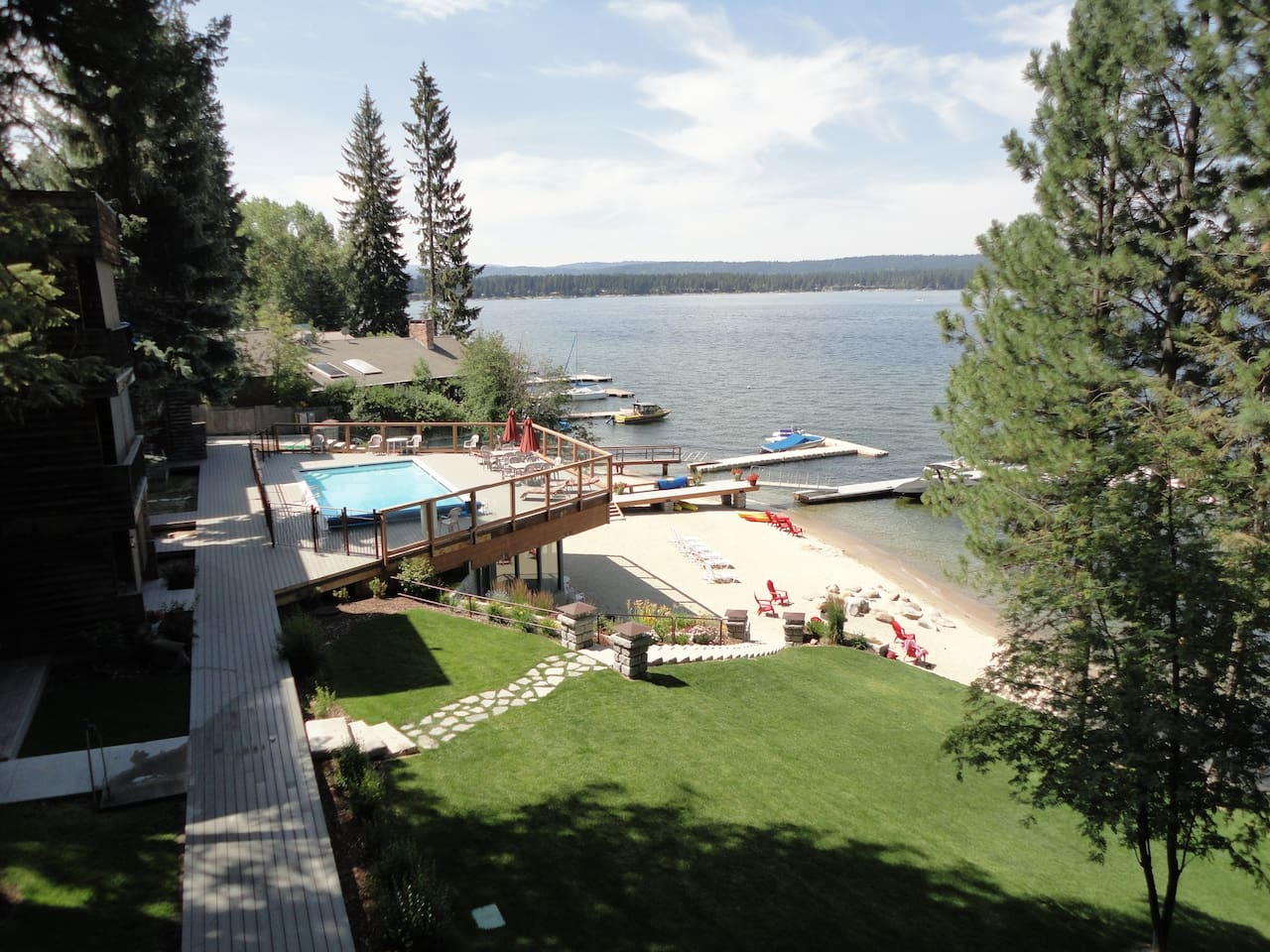 View from lakeside patio