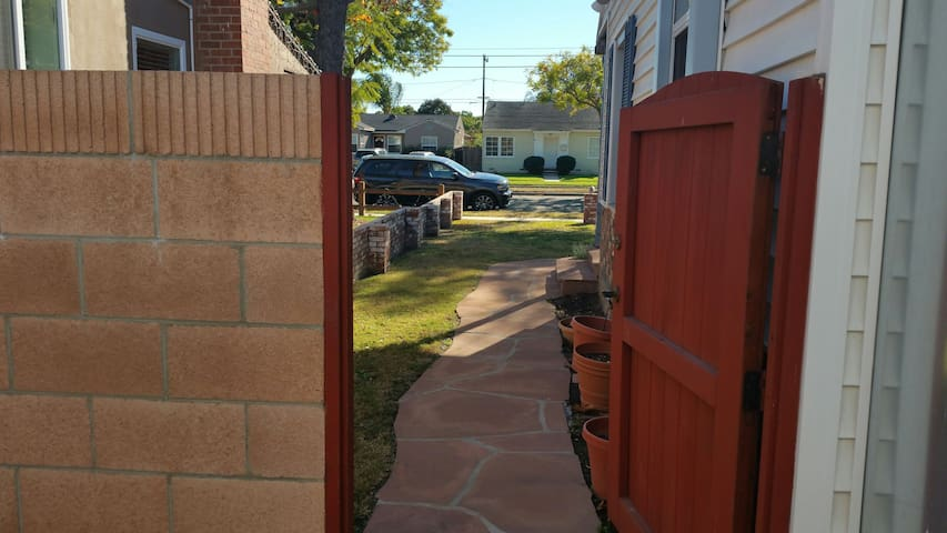 Welcome to Drew and Sherry's BnB!  Here is the separate entrance just for you! :)